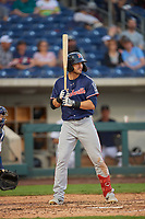 Chase d'Arnaud (8) of the Nashville Sounds bats against the Reno Aces at Greater Nevada Field on June 5, 2019 in Reno, Nevada. The Aces defeated the Sounds 3-2. (Stephen Smith/Four Seam Images)