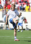United States' Jay DeMerit warms up before the game on Sunday, March 25th, 2007 at Raymond James Stadium in Tampa, Florida. The United States Men's National Team defeated Ecuador 3-1 in a men's international friendly.