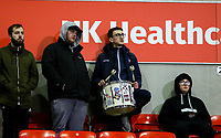 Bolton Wanderers fans watch on during the second half<br /> <br /> Photographer Alex Dodd/CameraSport<br /> <br /> The EFL Sky Bet Championship - Bolton Wanderers v West Bromwich Albion - Monday 21st January 2019 - University of Bolton Stadium - Bolton<br /> <br /> World Copyright © 2019 CameraSport. All rights reserved. 43 Linden Ave. Countesthorpe. Leicester. England. LE8 5PG - Tel: +44 (0) 116 277 4147 - admin@camerasport.com - www.camerasport.com