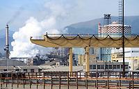- Genoa Cornigliano, ILVA steel factory....- Genova, acciaieria ILVA di Cornigliano