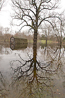 Old Manse & Boathouse, Concord, MA - Spring Flood 2010