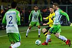 14.01.2018, Signal Iduna Park, Dortmund, GER, 1.FBL, Borussia Dortmund vs VfL Wolfsburg, <br /> <br /> im Bild | picture shows:<br /> Lukasz Piszczek (Borussia Dortmund #26) gegen Maximilian Arnold (VfL Wolfsburg #27), <br /> <br /> Foto &copy; nordphoto / Rauch