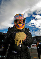 Oct. 31, 2008; Las Vegas, NV, USA: NHRA funny car driver Jim Head during qualifying for the Las Vegas Nationals at The Strip in Las Vegas. Mandatory Credit: Mark J. Rebilas-