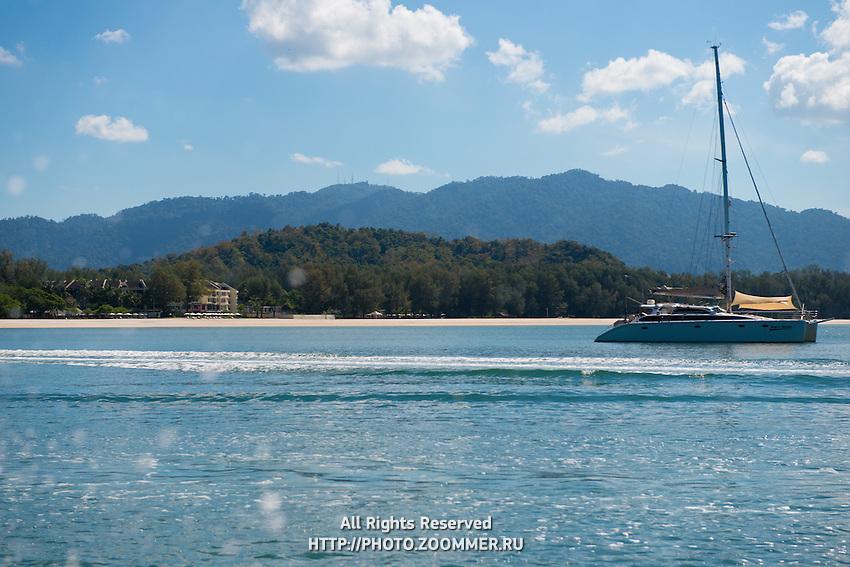 Yacht In Andaman Sea Near Tanjung Rhu Beach, Langkawi