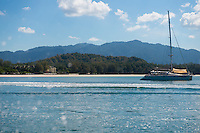 Yacht In Andaman Sea Near Tanjung Rhu Beach, Langkawi
