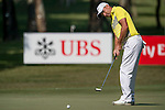 Sam Brazel of Australia putts during the 58th UBS Hong Kong Golf Open as part of the European Tour on 09 December 2016, at the Hong Kong Golf Club, Fanling, Hong Kong, China. Photo by Marcio Rodrigo Machado / Power Sport Images
