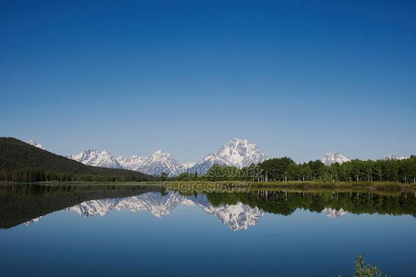 Grand Teton range, Oxbow Bend, Grand Teton National Park, Wyoming, USA