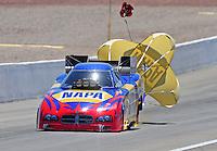 Apr. 5, 2009; Las Vegas, NV, USA: NHRA funny car driver Ron Capps during eliminations of the Summitracing.com Nationals at The Strip in Las Vegas. Mandatory Credit: Mark J. Rebilas-