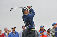 Hideki Matsuyama (JPN) watches his tee shot on 17 during round 2 of the AT&T Byron Nelson, Trinity Forest Golf Club, Dallas, Texas, USA. 5/10/2019.<br /> Picture: Golffile | Ken Murray<br /> <br /> <br /> All photo usage must carry mandatory copyright credit (© Golffile | Ken Murray)