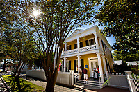 Visitors to Historic Pensacola Village learn of the Dorr House circa 1871, built in the Greek revival architectural style.<br /> <br /> <br /> COLIN HACKLEY PHOTO