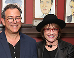 Michael Grief and Patti Lupone attend the Michael Grief Sardi's Portrait Unveiling at Sardi's on 4/27/2017 in New York City.