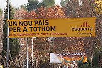 Spagna Barcellona  Elezioni all'assemblea catalana 25 Novembre 2012  manifesti