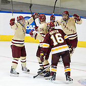 Barry Almeida (BC - 9), Bill Arnold (BC - 24), Tim Smith (Duluth - 16), Steven Whitney (BC - 21) - The Boston College Eagles defeated the University of Minnesota Duluth Bulldogs 4-0 to win the NCAA Northeast Regional on Sunday, March 25, 2012, at the DCU Center in Worcester, Massachusetts.