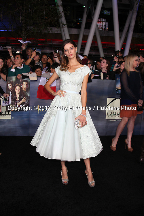 """LOS ANGELES - NOV 12:  Angela Sarafyan arrive to the 'The Twilight Saga: Breaking Dawn - Part 2"""" Premiere at Nokia Theater on November 12, 2012 in Los Angeles, CA"""