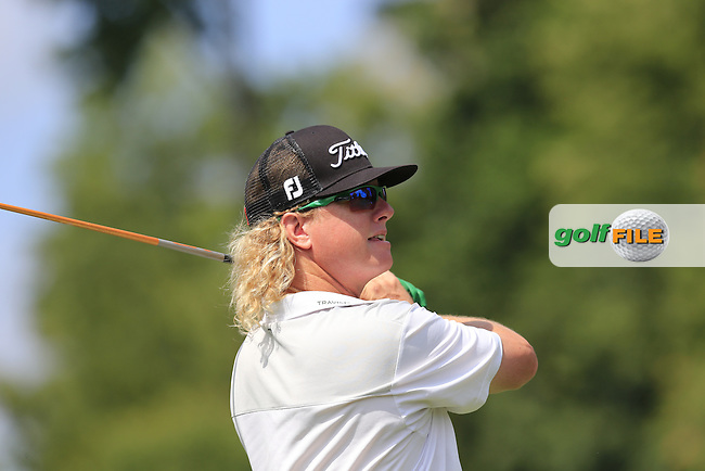Charley Hoffman (USA) tees off the 7th tee during Thursday's Round 1 of the 95th US PGA Championship 2013 held at Oak Hills Country Club, Rochester, New York.<br /> 8th August 2013.<br /> Picture: Eoin Clarke www.golffile.ie