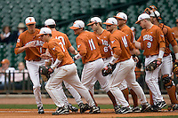 NCAA Baseball featuring the Texas Longhorns against the Missouri Tigers. Texas Longhorns 4800  at the 2010 Astros College Classic in Houston's Minute Maid Park on Sunday, March 7th, 2010. Photo by Andrew Woolley