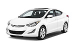 2016 Hyundai Elantra Value Edition 4 Door Sedan Angular Front stock photos of front three quarter view