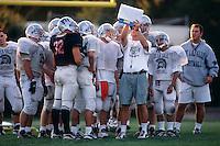 CONCORD, CA - De La Salle High School football coach Bob Ladouceur coaches practice at De La Salle High School in Concord, CA in 1997. Photo by Brad Mangin