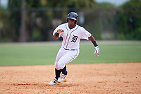 Detroit Tigers Jimmy Mojica (39) running the bases during an Instructional League game against the Philadelphia Phillies on September 19, 2019 at Tigertown in Lakeland, Florida.  (Mike Janes/Four Seam Images)