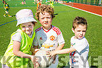 l-r  Clodagh Kinane, Roibaird Foley and Maunel Salazak  the John Mitchels GAA Club  summer camp for boys and girls aged between 5 and 12 years on Tuesday