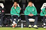 06.10.2019, Commerzbankarena, Frankfurt, GER, 1. FBL, Eintracht Frankfurt vs. SV Werder Bremen, <br /> <br /> DFL REGULATIONS PROHIBIT ANY USE OF PHOTOGRAPHS AS IMAGE SEQUENCES AND/OR QUASI-VIDEO.<br /> <br /> im Bild: Michael Lang (SV Werder Bremen #4), Luc Ihorst (SV Werder Bremen #29)<br /> <br /> Foto © nordphoto / Fabisch