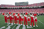 Wisconsin Badgers cheerleaders during an NCAA college football game against the Austin Peay Governors on September 25, 2010 at Camp Randall Stadium in Madison, Wisconsin. The Badgers beat the Governors 70-3. (Photo by David Stluka)