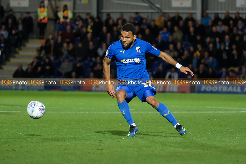 Andy Barcham of AFC Wimbledon in action during AFC Wimbledon vs Bradford City, Sky Bet EFL League 1 Football at the Cherry Red Records Stadium on 2nd October 2018