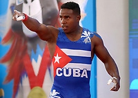 BARRANQUILLA - COLOMBIA, 22-07-2018:Competidor Adriel Lao Garcia de Cuba , levantamiento de  pesas ,  Modalidad Arranque .Juegos Centroamericanos y del Caribe Barranquilla 2018. / Competitor Adriel Lao Garcia of Cuba   in weightlifting Modality Start of the Central American and Caribbean Sports Games Barranquilla 2018. Photo: VizzorImage /  Contribuidor