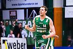 S&ouml;dert&auml;lje 2014-04-22 Basket SM-Semifinal 7 S&ouml;dert&auml;lje Kings - Uppsala Basket :  <br /> S&ouml;dert&auml;lje Kings Mantas Griskenas knyter n&auml;ven efter att ha gjort en trepo&auml;ngare<br /> (Foto: Kenta J&ouml;nsson) Nyckelord:  S&ouml;dert&auml;lje Kings SBBK Uppsala Basket SM Semifinal Semi T&auml;ljehallen jubel gl&auml;dje lycka glad happy