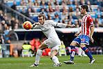 Real Madrid´s Gareth Bale during 2015/16 La Liga match between Real Madrid and Sporting de Gijon at Santiago Bernabeu stadium in Madrid, Spain. January 17, 2015. (ALTERPHOTOS/Victor Blanco)