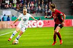 01.05.2019, RheinEnergie Stadion , Köln, GER, DFB Pokalfinale der Frauen, VfL Wolfsburg vs SC Freiburg, DFB REGULATIONS PROHIBIT ANY USE OF PHOTOGRAPHS AS IMAGE SEQUENCES AND/OR QUASI-VIDEO<br /> <br /> im Bild | picture shows:<br /> Pia-Sophie Wolter (VfL Wolfsburg #20) gegen Greta Stegemann (SC Freiburg Frauen #20), <br /> <br /> Foto © nordphoto / Rauch