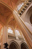 Europe/France/Bretagne/29/Finistère/Quimper: Intérieur de la Cathédrale Saint-Corentin (XIIIème-XVème) - La nef