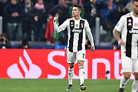 Cristiano Ronaldo of Juventus celebrates after scoring goal of 2-0 during the Uefa Champions League 2018/2019 round of 16 second leg football match between Juventus and Atletico Madrid at Juventus stadium, Turin, March, 12, 2019 <br />  Foto Andrea Staccioli / Insidefoto