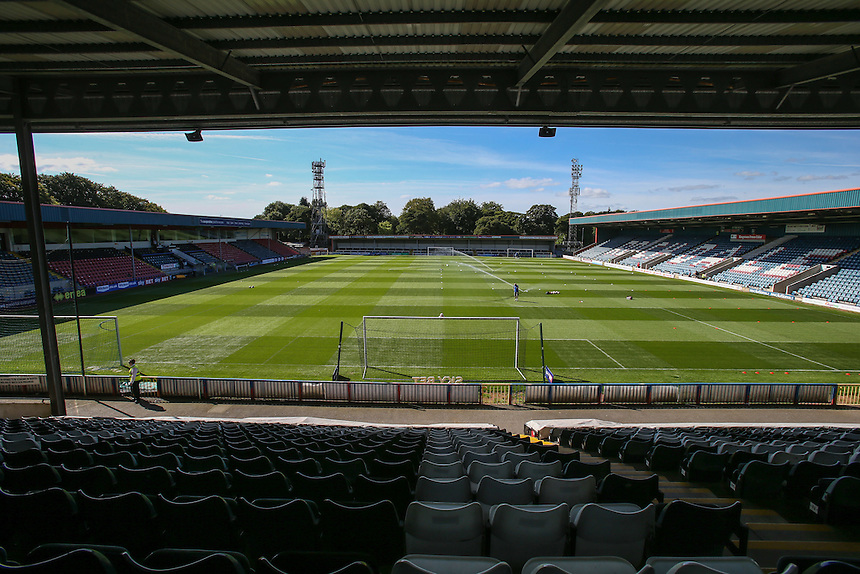 A general view of Spotland Stadium, home of Rochdale<br /> <br /> Photographer Alex Dodd/CameraSport<br /> <br /> The EFL Sky Bet League One - Rochdale v Fleetwood Town - Saturday 17th September 2016 - Spotland - Rochdale<br /> <br /> World Copyright &copy; 2016 CameraSport. All rights reserved. 43 Linden Ave. Countesthorpe. Leicester. England. LE8 5PG - Tel: +44 (0) 116 277 4147 - admin@camerasport.com - www.camerasport.com