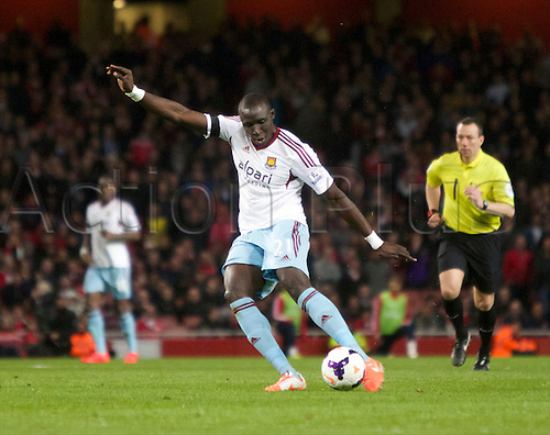 15.04.2014.  London, England. Mohamed Diamé of West Ham United during the Barclays Premier League match between Arsenal and West Ham from the Emirates Stadium.