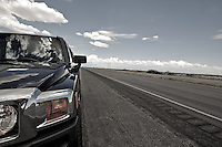 Roadside stop on a desert highway