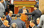 Members of Egypt's Parliament attend the inaugural session, the first to convene in three years, in Cairo, Egypt, Sunday, Jan. 10, 2016. The 596-seat assembly, elected in November and December, packed with supporters of President Abdel-Fattah el-Sissi, signaled the completion of a political road map first announced in 2013. It is the first elected chamber since el-Sissi, as military chief, led the ouster of President Mohammed Morsi in 2013 following massive protests against the Islamist leader and his Muslim Brotherhood. Photo by Amr Sayed