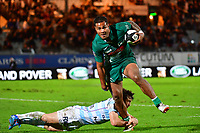 Frank Halai of Pau is tackled by Marc Andreu of Racing 92 during the French Top 14 match between Racing 92 and Pau at Stade Yves Du Manoir on November 4, 2017 in Colombes, France. (Photo by Dave Winter/Icon Sport)
