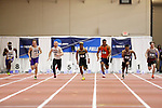 NAPERVILLE, IL - MARCH 11: The men's 60 meter dash at the Division III Men's and Women's Indoor Track and Field Championship held at the Res/Rec Center on the North Central College campus on March 11, 2017 in Naperville, Illinois. (Photo by Steve Woltmann/NCAA Photos via Getty Images)