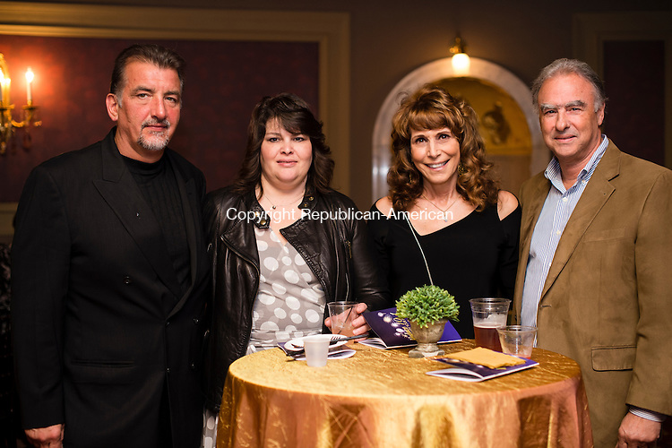 WATERBURY, CT- 17 May 2016-051716EC03-  Social Moments. From L to R: Vice President of Stagehands Local 74, Bob Paternoster, along with Sue Paternoster, Nancy Cappello and Joe Cappello gather at The Palace Theater's Palace 10.1 event on May 13th. Erin Covey Republican-American