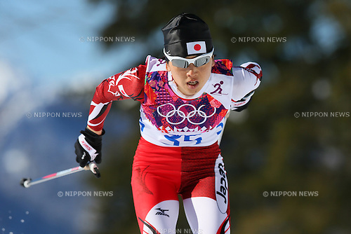 Masako Ishida (JPN), <br /> FEBRUARY 13, 2014 - Cross Country Skiing : <br /> Women's 10km <br /> at &quot;LAURA&quot; Cross-Country Ski &amp; Biathlon Center <br /> during the Sochi 2014 Olympic Winter Games in Sochi, Russia. <br /> (Photo by Yohei Osada/AFLO SPORT)