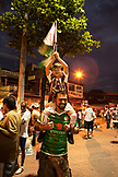 BRAZIL, Rio de Janiero, a man and his son outside of Joao Havelange or Engenhao stadium, Flumanense vs Gremio