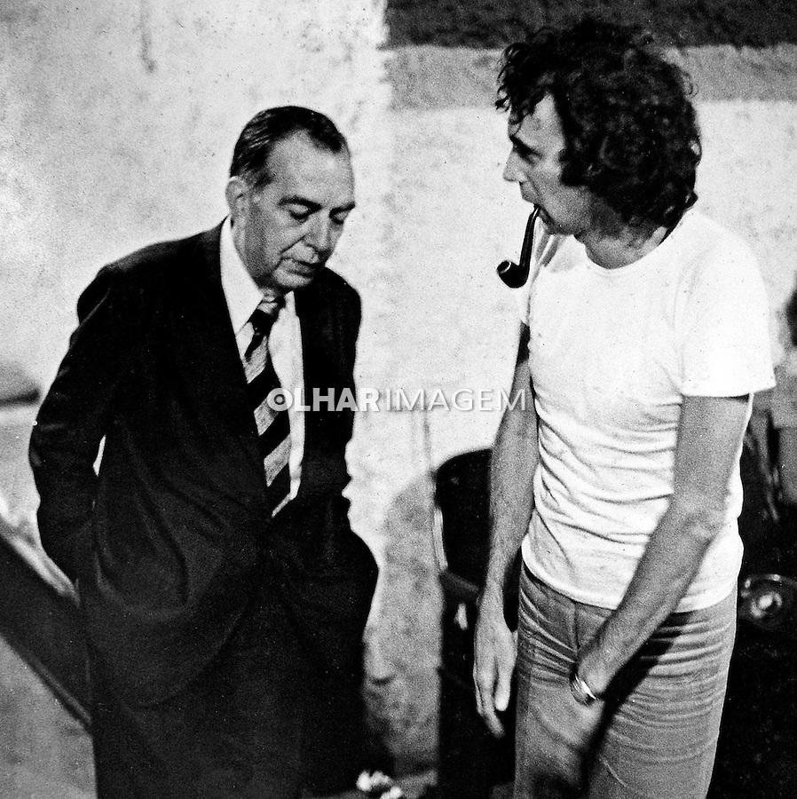 Pessoa. Personalidade. Nelson Rodrigues e Antunes Filho. 1975. Foto de Juca Martins.
