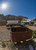 Ore car at Ryan, California, a 1920s mining camp in the Greenwater Range on the Eastern edge of Death Valley