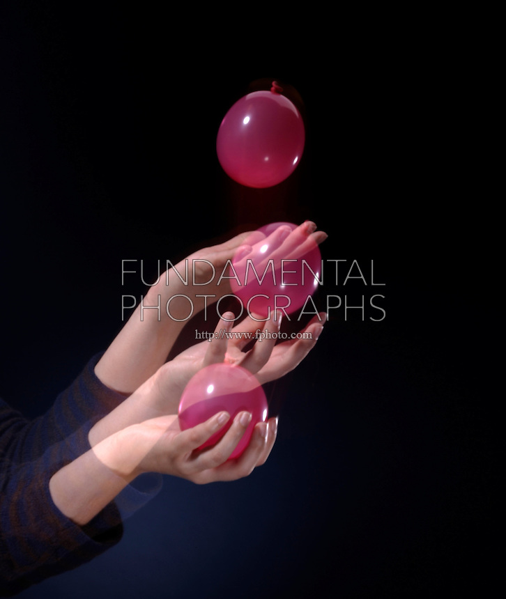 WATER BALLOON CATCH- IMPULSE MOMENTUM THEORY<br /> (Variations Available).<br /> Slowing a Fast Moving Object<br /> Pulling your  arm in as you catch the balloon will lengthen the collision time and reduce the force on the balloon to prevent bursting it. If the duration of collision is increased, the force of impact is decreased.