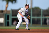 Lakeland Flying Tigers shortstop Jared Reaves (12) during a game against the Tampa Yankees on April 9, 2015 at Joker Marchant Stadium in Lakeland, Florida.  Tampa defeated Lakeland 2-0.  (Mike Janes/Four Seam Images)