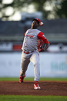 Williamsport Crosscutters pitcher Franklyn Kilome (44) delivers a pitch during a game against the Batavia Muckdogs on August 27, 2015 at Dwyer Stadium in Batavia, New York.  Batavia defeated Williamsport 3-2.  (Mike Janes/Four Seam Images)