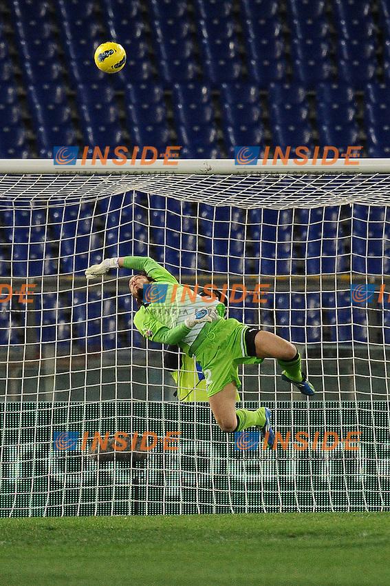 Federico Marchetti Lazio.Roma, 26/02/2012 Stadio Olimpico.Football Calcio 2011/2012 .Lazio vs Fiorentina 1-0.Campionato di calcio Serie A.Foto Insidefoto Antonietta Baldassarre