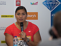 Valerie Adams of New Zealand (Shot Put)  during Pre Event Press Conference at Grange Tower Bridge Hotel, Prescott Street, The Sainsbury's Anniversary Games Diamond League Event. London, England on 23 July 2015. Photo by Andy Rowland.
