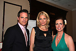 Michael Park and Martha Byrne (hosts) pose with supermodel Kim Alexis at the benefit Angels for Hope which benefits St. Jude Children's Research Hospital on May 29, 2009 at the Estate at Florentine Gardens, Rivervale, NJ. (Photo by Sue Coflin/Max Photos)